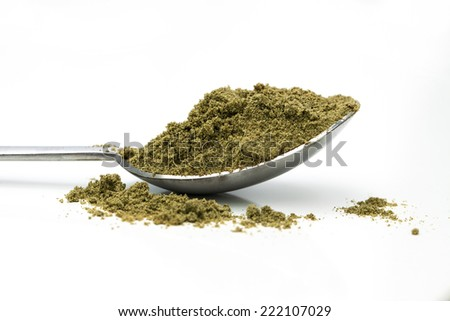 hemp seed protein powder - stock photo