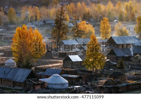 Hemu village in Kanas Nature Reserve, Xinjiang, China