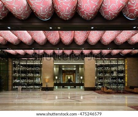 HENDERSON, NEVADA - JULY 22: Lobby of the M Hotel on Las Vegas Blvd on July 22, 2016 in Henderson, Nevada