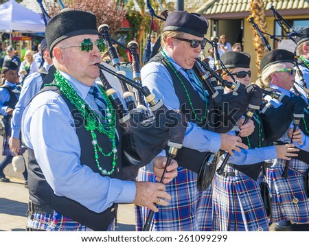 HENDERSON , NEVADA - MARCH 14 : Participants at the annual Saint Patrick's Day Parade in Henderson Nevada on March 14 2015