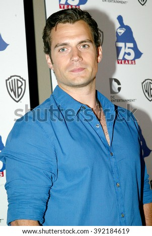 Henry Cavill arrives at the DC Entertainment and Warner Bros.Superman 75th anniversary party during San Diego Comic-Con at the Hard Rock Hotel San Diego's Float Bar on July 19, 2013 in San Diego, CA.  - stock photo