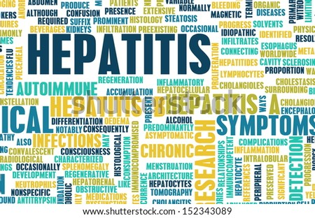 Hepatitis Medical Concept as an Infection Art - stock photo