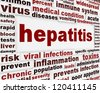Hepatitis medical poster concept. Dangerous infections warning message - stock photo