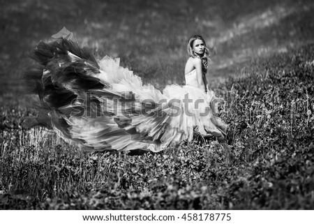 her fairytail - stock photo