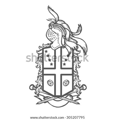 Vector Heraldic Royal Crests Coat Arms Vector 271481690 – Coat of Arms Template