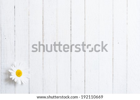 herbal flower on white wood table - stock photo
