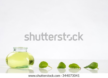 Herbal medicine  with mint   - stock photo
