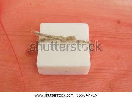 herbal soap - stock photo