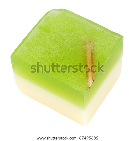Herbal Soap Cutout - stock photo