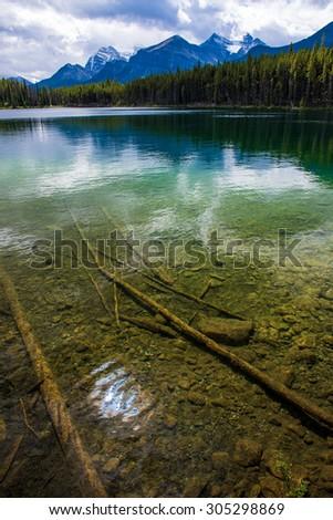 Herbert Lake, Banff National Park, Alberta, Canada  - stock photo