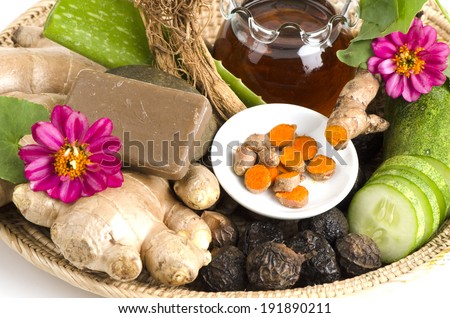 Herbs for beauty and skin health. - stock photo