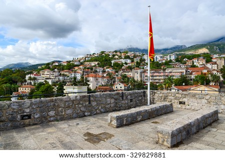HERCEG NOVI, MONTENEGRO - SEPTEMBER 25, 2015: View of Herceg Novi from the walls of Sea Fortress (Forte Mare), Montenegro