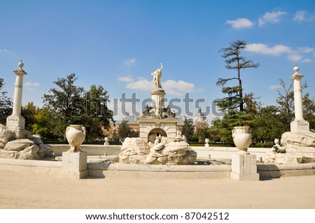 Hercules and Anteo fountain, Aranjuez, Madrid (Spain)