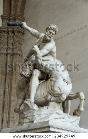 Hercules and the Centaur Sculpture, Florence, Italy