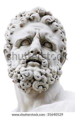 Hercules isolated on white. Loggia della Signoria, Florence, Italy - stock photo
