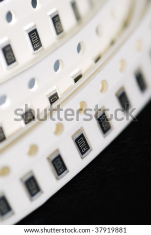 Here are resistor chips in SMD style.