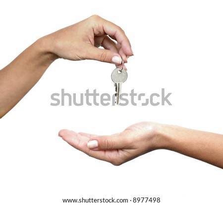 Here are the keys - stock photo