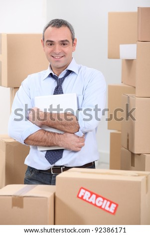Here is your delivery. - stock photo