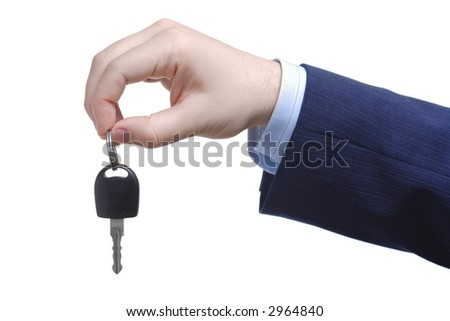 Here's your car key - stock photo