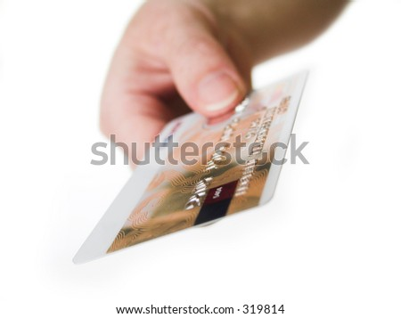 Here's your card - stock photo