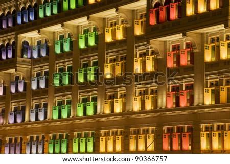 Heritage Windows, Singapore - stock photo
