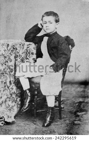 Herman Hollerith (1860-1929), American inventor as a child. Ca. 1870. - stock photo