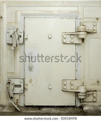 hermetically sealed door - stock photo