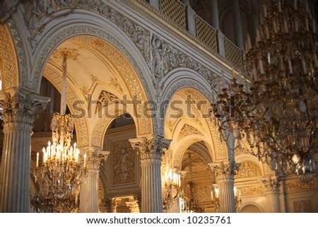 Hermitage in Saint Petersburg, Russia, Europe - stock photo