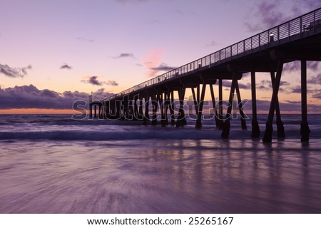 Hermosa Beach pier at sunset.