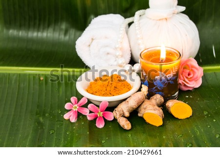 Herps for spa, Thailand - stock photo