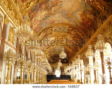 Herrenchiemsee palace hall - stock photo