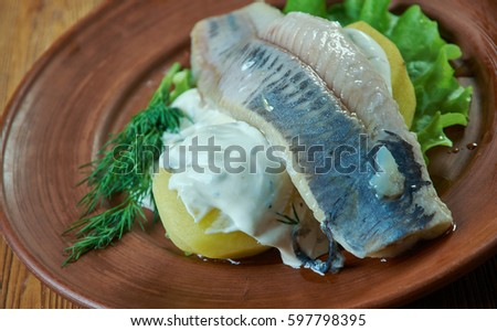 Herring with dill and Scandinavian mustard potato salad