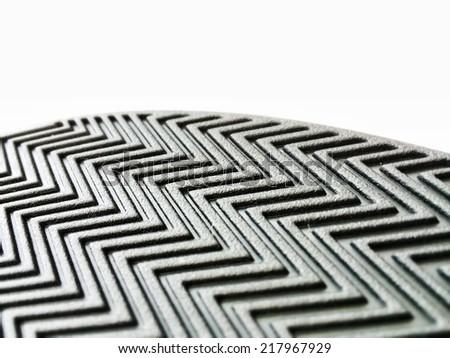 Herringbone pattern design on white background - stock photo