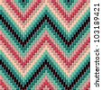 Herringbone Pattern in Green and Pink has dimensional detail. Repeats seamlessly. - stock photo