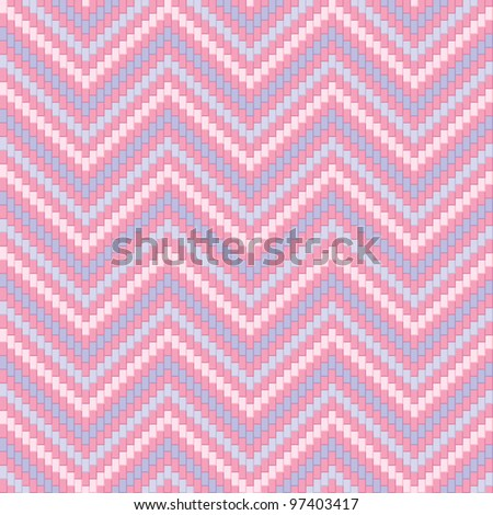 Herringbone Tweed pattern in pastel colors repeats seamlessly. - stock photo