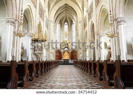 Herz Jesu Church of Graz, Austria - stock photo