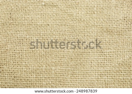 Hessian Burlap Sacking or Gunny Bag Textured Background Close-up - stock photo