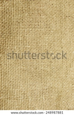 Hessian Burlap Sacking or Gunny Bag Vertical Textured Background Close-up - stock photo