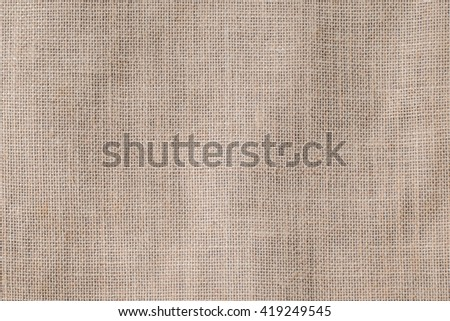 Hessian sackcloth woven texture pattern background in light red cream sepia brown color tone Eco friendly raw organic flax cloth fabric textile backdrop Bag rope thread detailed textured burlap canvas - stock photo