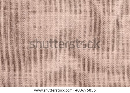 Hessian sackcloth woven texture pattern background in red brown color tone: Eco friendly raw organic flax cloth fabric textile backdrop: Bag rope thread detailed textured burlap canvas - stock photo