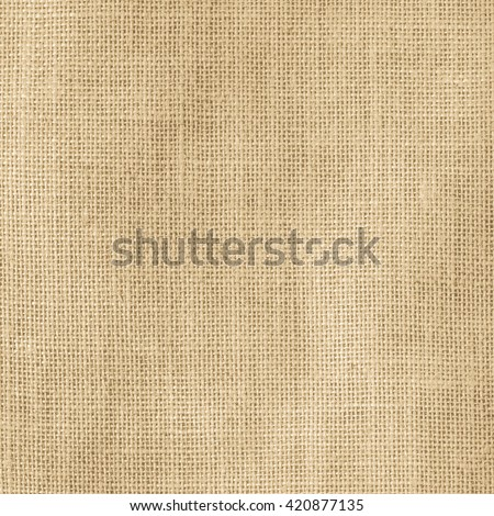 Hessian sackcloth woven texture pattern background light yellow gold cream brown color tone: Eco friendly raw organic flax cloth fabric textile backdrop Bag rope thread detailed textured burlap canvas - stock photo