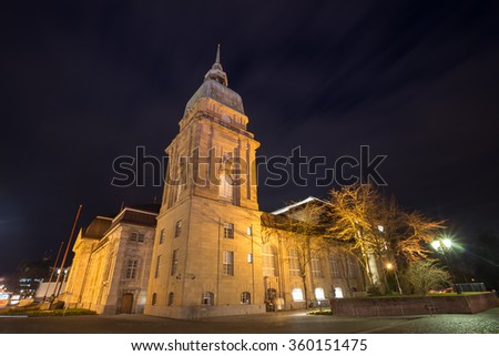 hessisches landesmuseum darmstadt germany at night