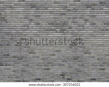 heterogeneous brick stone wall background texture - stock photo