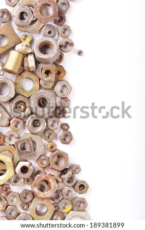 Hex nuts background