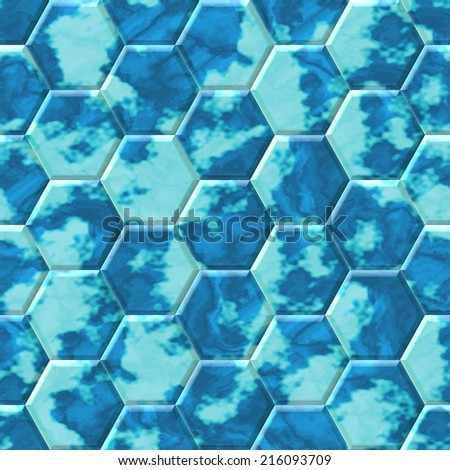 Hexacomb tiling seamless generated texture or background
