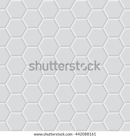 hexagon light 3d geometric pattern  - stock photo