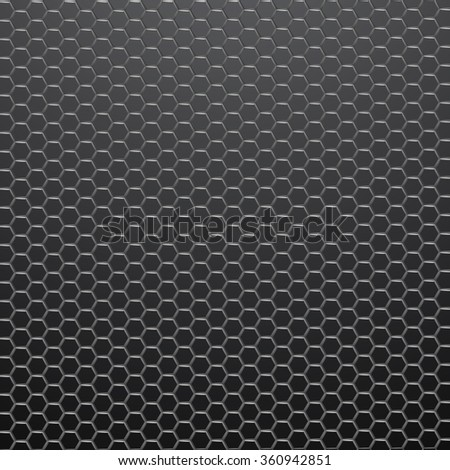 Hexagonal grid background.