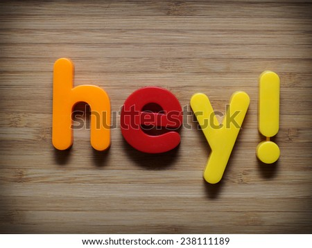 Hey alert or shout out concept - stock photo