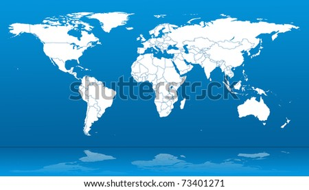Hi detail real world map territorial stock illustration 73401271 hi detail real world map with territorial countries fragmentation glass mirror gumiabroncs Image collections