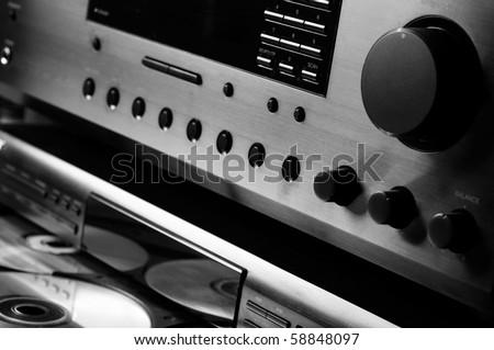 Hi-end Audio System - stock photo